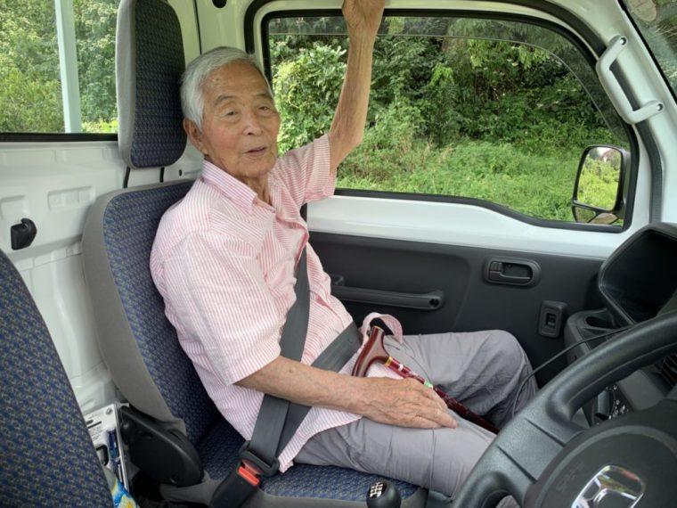 祖父とドライブ