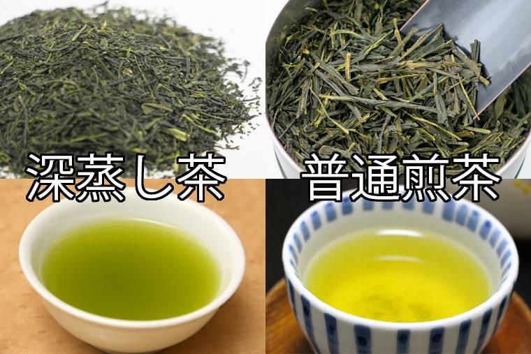 深蒸し茶・普通煎茶の違い
